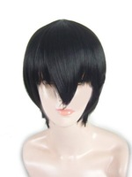Reborn! Cosplay Black hair Kyoya Hibari Short party Wig