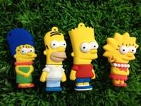 Simpsons USB Flash Drive 2gb 4gb 8gb 16gb  USB Memory Stick Cartoon Pen Thumb Drive CT-504