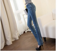 Hot Retail Women Trousers Leisure & Casual Pants Newly Style Famous Brand Cotton Woman Flared Jeans Pants F15