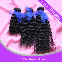 Queen hair products Brazilian hair unprocessed deep wave curly hair 3 pcs bundles lot free shipping natural color Jack