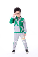 Free Shipping! 2013 autumn new children clothing the Hoody jacket+pants long-sleeve set kids baby boy sport suit