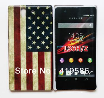11 Designs US UK Flag Skull Eiffel Tower Cassete Audio Tape Game IMD Hard Plastic Back Cover For Sony Ericsson Xperia Z L36h