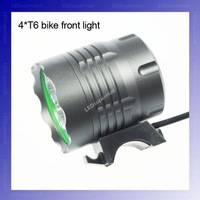 4T6 Headlight 4 x CREE XML T6 LED Bicycle Bike Light LED Bicycle Front Light + Free Shipping