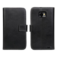 Genuine Leather Wallet Case for Samsung Galaxy S2 i9100 Cover With Credit Holder Cell Phone Accessories