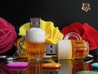 Beer mug beer cup style usb flash memory card pendrive 1-32GB free shipping