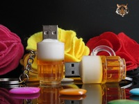 Beer mug beer cup style usb flash memory card pendrive 1-32GB free shipping