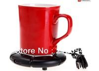Portable USB Electronics Gadgets Novelty Item Powered Cup Mug Warmer Coffee Tea Drink Heater Tray Pad , Free / Drop Shipping