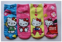 Wholesale New 2013 Baby Kids Childrens Cotton Socks For 2-8yearsGirs Cartoon Kitty Princess Fashion Sock 12pcs/lot Free Shipping