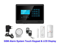 Hot Selling Wireless GSM SMS Touchkeypad Alarm System
