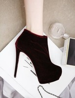Oct-2013 star winter style woman fashion platform short boots/pumps female/ladies ankle naked boots/footwear free shipping