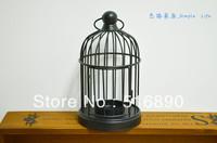 Free Shipping!Simple Iron Candle Holder Wedding lantern Candle Holder bird cage shape Ikea Style Candle holder House Decoration