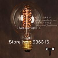 Free shipping Vintage G80 tungsten halogen bulbs E27 edison bulb for restaurant club coffe bars light glass light bulbs