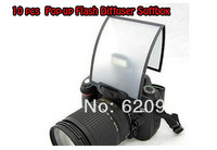 100% Professional10 PCS  free shipping Universal Soft Screen Pop-Up Flash Diffuser For Nikon Canon Pentax Olympus