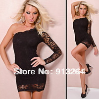 Top quality brand 5411 sexy lingerie single sleeve lace strapless black skirt underwear promotion free shipping wholesale