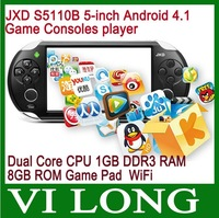 JXD S5110B 5-inch Android 4.1 Game Consoles 1.5GHz Dual Core CPU 1GB DDR3 RAM 8GB ROM The King Game Console Game Pad MP4 player