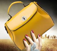 Popular 2014 Genuine leather women's handbag fashion casual  handbags messenger leather bag one shoulder big bag free shipping