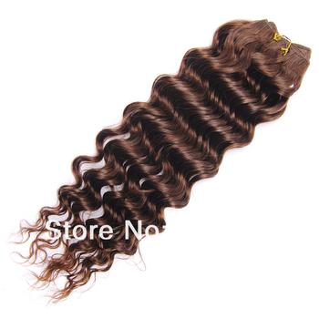 Free Shipping Ombre Kanekalon Braiding Hair Piece Fluffy Long Curly Hair Brazilian Virgin Human Hair Extension