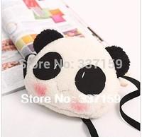 Free shipping 23x18cm plush panda shoulder bag, cute small stuffed panda bag, lovely gift for girls, fashion bag for shopping