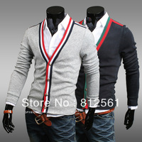 Free shipping 2013 new fashion men's cardigan sweater Slim personalized cotton men casual sweater coat