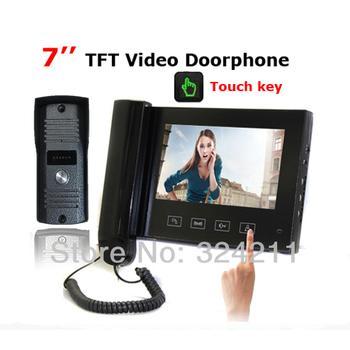 Home 7 inch LCD Color Video door phone bell Intercom System kit IR Camera Rain-proof Outdoor