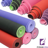 FANGCAN TPE Anti-Slip Double-layers, Non-Toxic and Environmentally Friendly Material, Green and Skin-Friendly Yoga Mat
