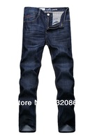 Free shipping size 29-40 fashion luxury brand men cotton stretch jeans plus bigger sizes logo print men logo jeans MJ13003