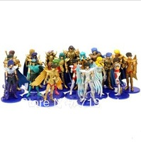 Japanese Anime Saint Seiya 5 pieces/lot PVC Action Figure Model Toys for Collection