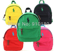 Free shipping children boys girls candy colors backpacks Kindergarten school bag 5 colors baby schoolbags knapsack