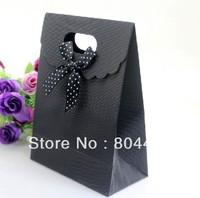 Black gift bag Korean version of the clamshell bag black gift bag packaging bag gift handbag