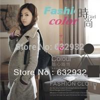 Free Shipping 2014 Autumn -Winter Korean Style Thicken Warm Long Women's Wool Coats