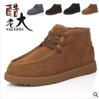 Free shipping Winter men's casual leather short boots waterproof snow boots male cotton-padded shoes fashion men snow boots