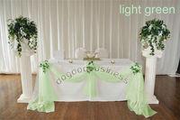 5M*1.35M light green organza sheer fabrics for curtain/crystal organza material for wedding backdrops decor(21 color)