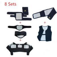Free Shipping Neoprene Tourmaline Self- heating Knee Pad Neck Waist Support Vest 8 sets