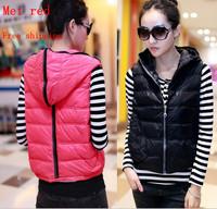 The new women's short down jacket vest padded vest vest jacket Free shipping
