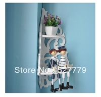 Wall shelf corner shelf corner shelf hanging pot rack wall hollow frame