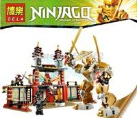 2013 New. Bela 9795 , God Temple Ultimate Ninja, The Phantom Ninja Series, 577 PCS/Set. Educational Toys, Children's Christmas!