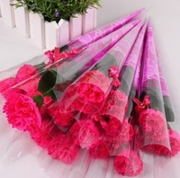 High quality (30 pieces/lot) Carnations soap flower Mother's day and teacher's day gift Color can choose