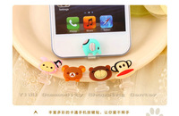 Mobile Phone Sticker,   Cartoon Silicone Sticker ,Mobile Phone Decoration For IPhONE5