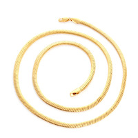 Men Gold Chain Necklace, 600mm Length, 8mm Width, 18K Genuine Gold Filled Gold Necklace, Classical Men Jewelry, C-19