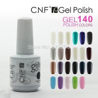 Free Shipping New 6pcs/Lot CNF  Soak Off Uv Gel Polish Nail Art LED 140 Colors Available 15ml 5oz Lacquer Salon Wholesale