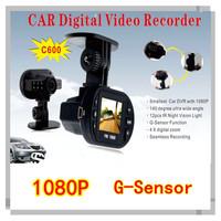 SunView 1080P HD Car DVR Recorder With G-sensor/12 LED IR Night Vision car camera(SV-C600)