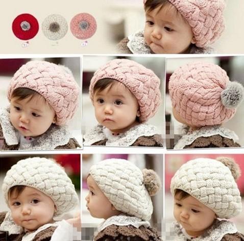 Hot New Fashion Cute Baby Kids Girls Boys Toddler Knitted Crochet Beanie Hat Cap[CWYE0031](China (Mainland))
