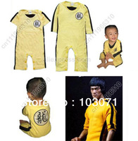 Bruce Lee Kung Fu Baby Infant Kid Child Toddler Boy Girl Grow Onesie Bodysuit Romper Jumpsuit Outfit One-Piece Track Suit Cloth