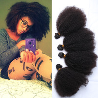 Free Shipping Queen hair product 4 or 5 or 6pcs lot virgin mongolian afro kinky curly hair extensions 5A unprocessed virgin hair