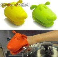 Dog/Doggie Design Pliable Silicone Pot Holder Silicone Glove Oven Mitt 5pcs/lot  Free Shipping C277