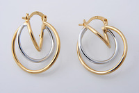 Women Jewelry Accessories, 31mm Length, 22mm Width, 14K Gold Filled Hoop Earrings or Women, Free Shipping Factory Price E310