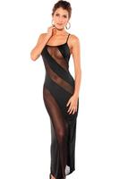 Fashion Bias-cut Disign Spaghetti Strap Corss Black Sexy Transparent Bandage Dress Wholesale FREE SHIPPING