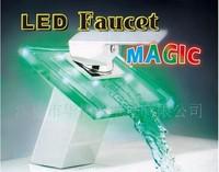 skypark self power faucet basin waterfall faucet led faucet Temperature-sensitive Free Shipping