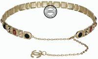 Mdash . mdash . fashion mdash n . mdash . classic women's thin belt gem cuicanduomu inlaying all-match metal gold belly chain