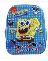 New arrivals Children cartoon spongebob zipper shoulder School bag baby backpacks kids boys girls bookbags student bag